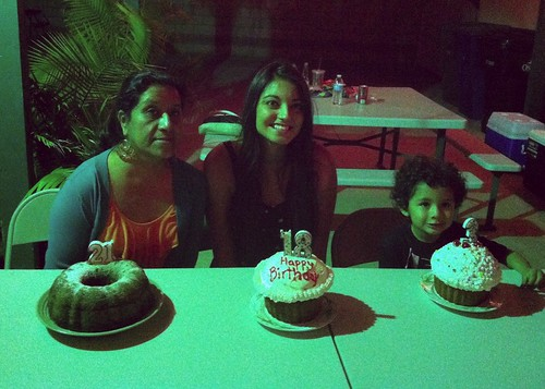 Triple birthday celebration