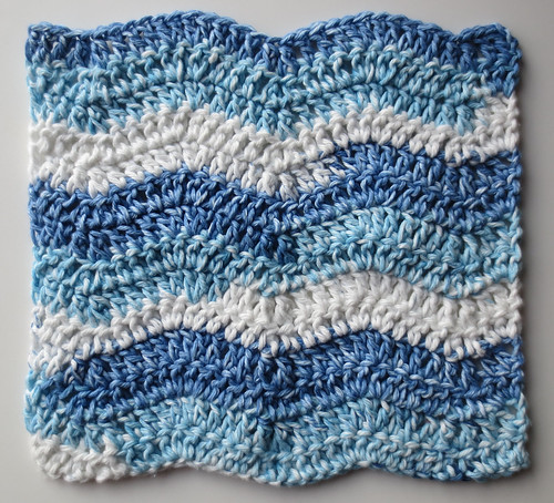 Wavy Ripple Dishcloth Pattern
