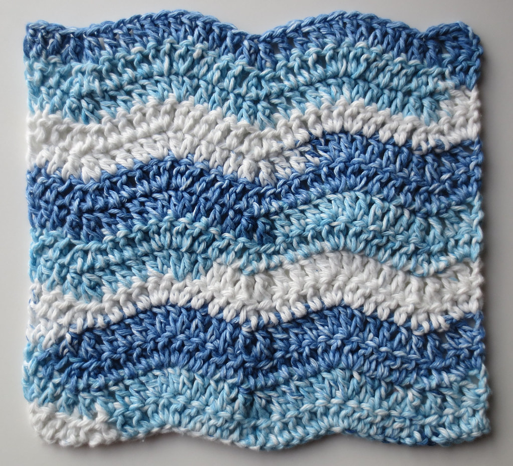 Wavy Ripple Dishcloth Pattern My Recycled Bags