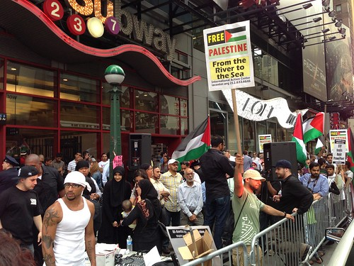 Palestinian demonstration, Times Square