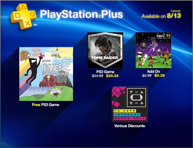 PlayStation Plus Update 8-13-2013