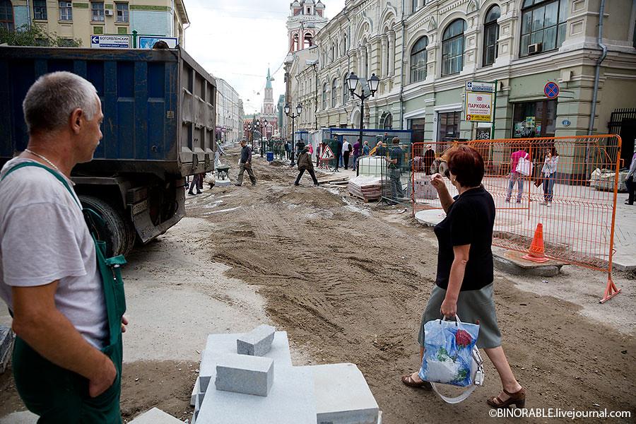 Открытие Никольской улицы для пешеходов ©binorable.livejournal.com