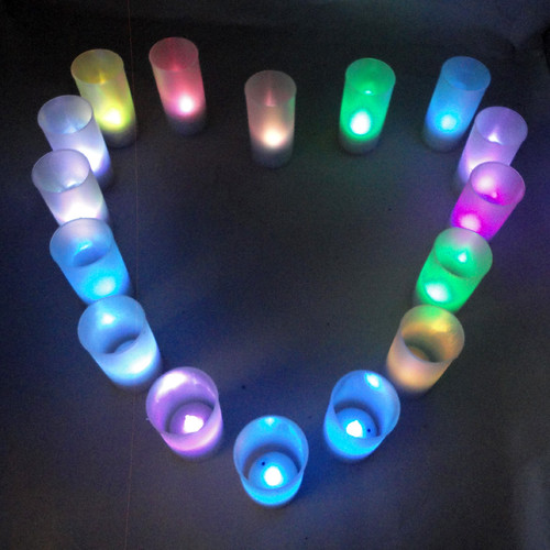Halloween Accessories Romantic Voice Control Candle Light Led