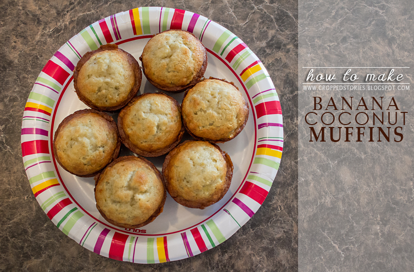 Banana Coconut Mini Muffins via Cropped Stories