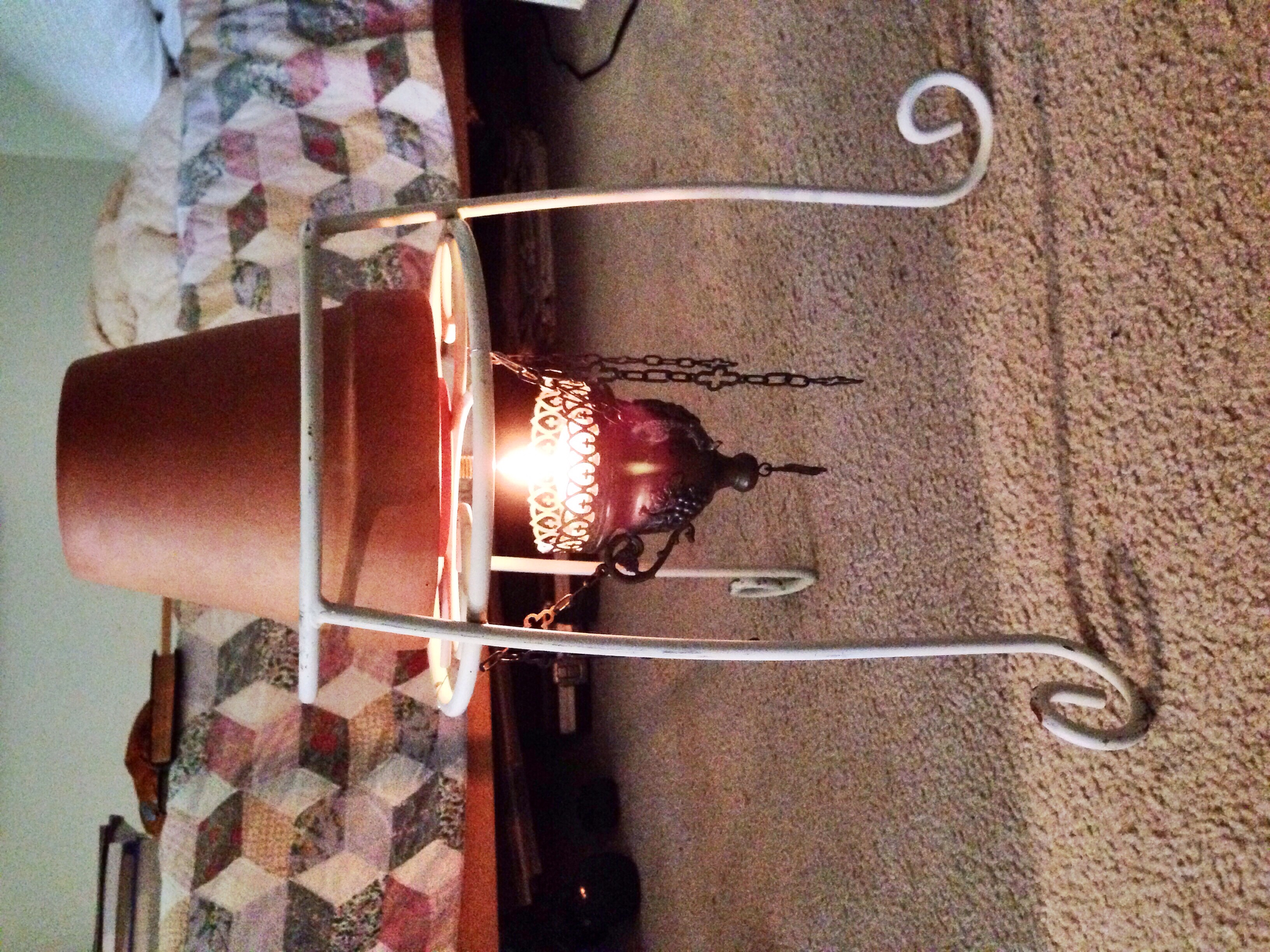 Flower pot space heater Now with candle holder