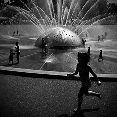 Play at the fountain