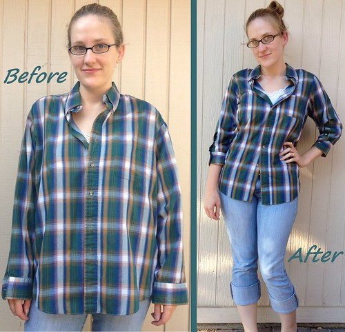 Plaid Shirt Refit Before & After