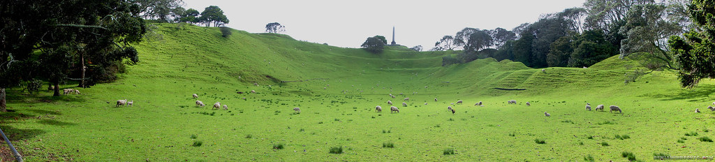 First visit to One Tree Hill and Mount Eden, Auckland