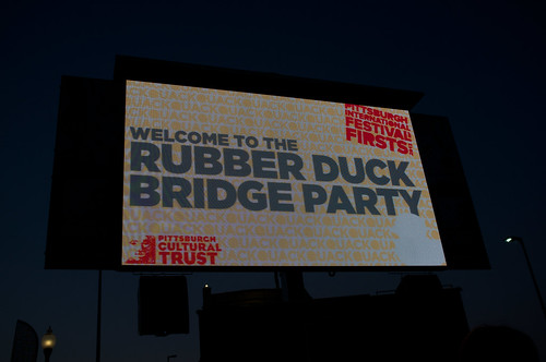 Rubber Duck Bridge Party.