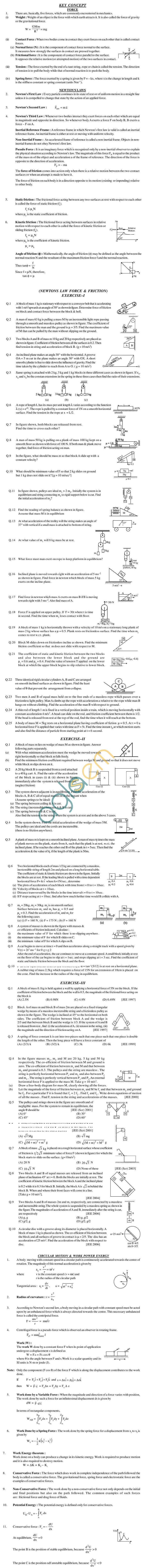 Physics Study Material - Newton Law of Motion