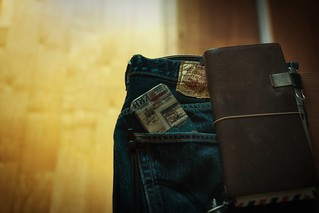 Levi's 501, TRAVELER'S Notebook & iPhone 5