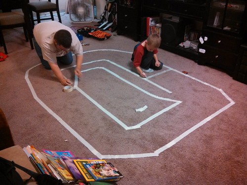 "October 12, 2013 ""NASCAR"" track made from tape"