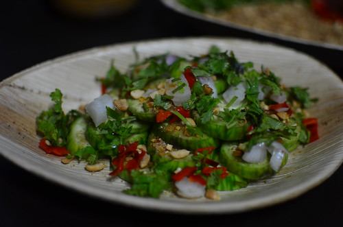Assembly of garden egg salad