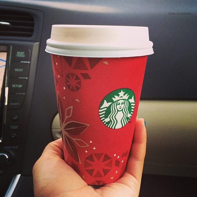 Caramel Brûlée latte !! Holiday cups are out!