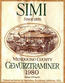 USA - Simi Gewürztraminer 1980