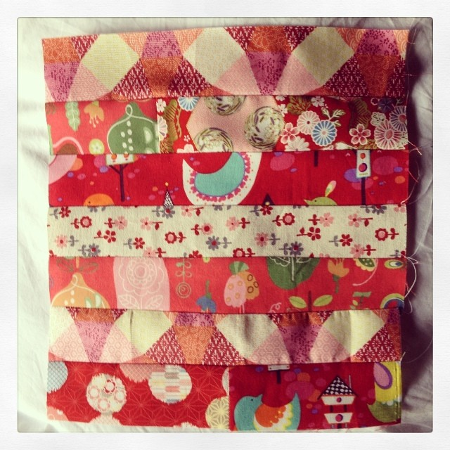Pink quilt block done.