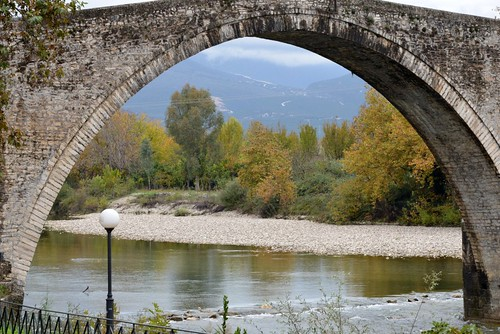 bridge november stone arch view main greece thursday arta epirus 2013 nov2013 21nov2013