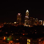 Charlotte NC Skyline Night
