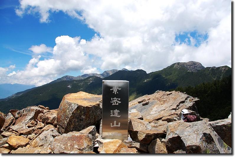 素密達山不鏽鋼標柱(Elev.  3517  m)