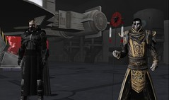 Darth Helius and Talon Contarus in the Sith Inquisition Fleet