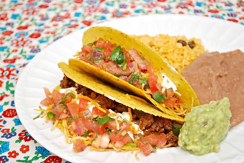 Tinga Ground Beef Tacos