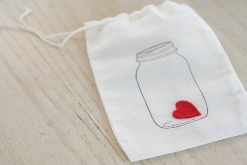 stamped muslin bag | yourwishcake.com