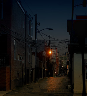 Court Street at night