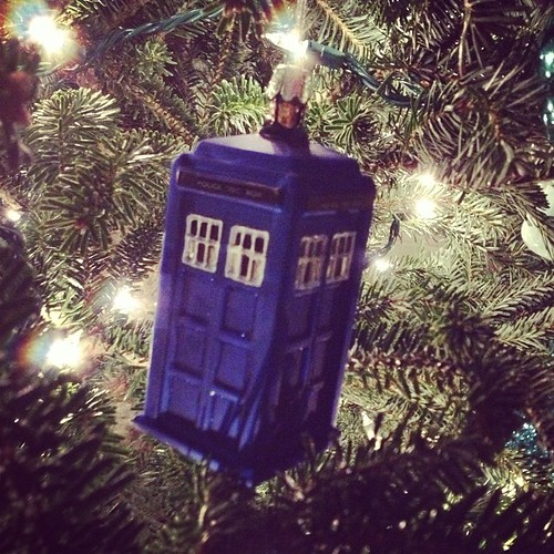 Let's take a tour! This year's ornament. #tardis #doctorwho