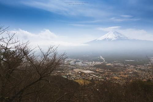 city travel sky cloud mist tree japan landscape branch cityscape fuji landmark traveller fujisan ropeway mtfuji