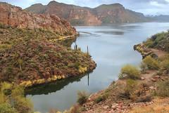 Canyon Lake from Highay 88, Apache Trail, Arizona