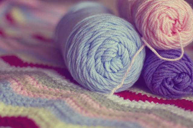 The start of a new crochet blanket