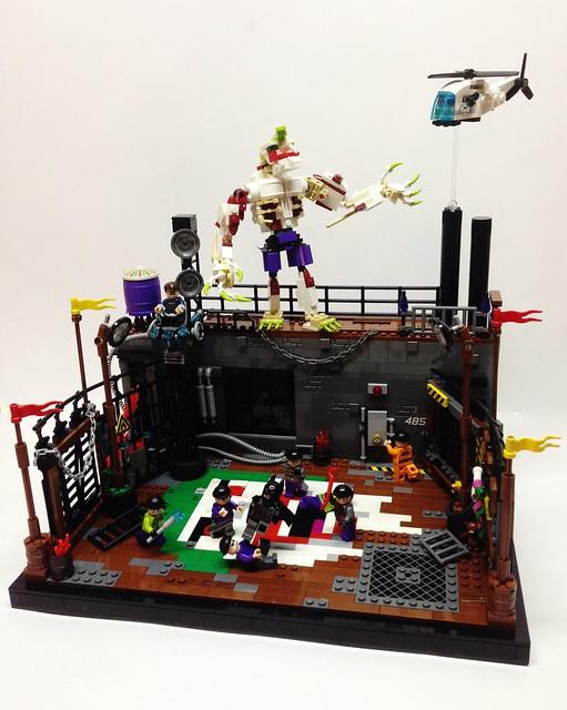 moc party at arkham lego licensed eurobricks forums. Black Bedroom Furniture Sets. Home Design Ideas