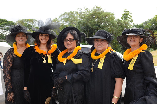 <p>The women of the ʻAhahui Kaʻahumanu were among the organizational representatives at the grand opening of Haleʻōlelo, the new home of the UH Hilo's Ka Haka 'Ula O Ke'elikōlani College of Hawaiian Language.</p>