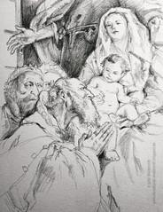 Anbetung, helige drei Koenige, Gianbatista Tiepolo
