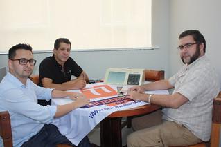 O coordenador regional Diogo Telles, o presidente estadual do Solidariedade-SP, David Martins, e Daniel Vardi, o Daniel dos Quadrinhos
