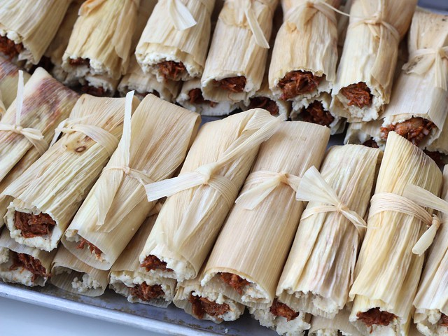 tamales: all wrapped up and tied with a bow