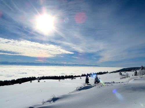 winter sky snow alps fog view ride fatbike 25012014