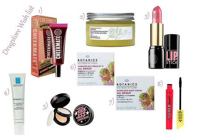 drugstore wishlist