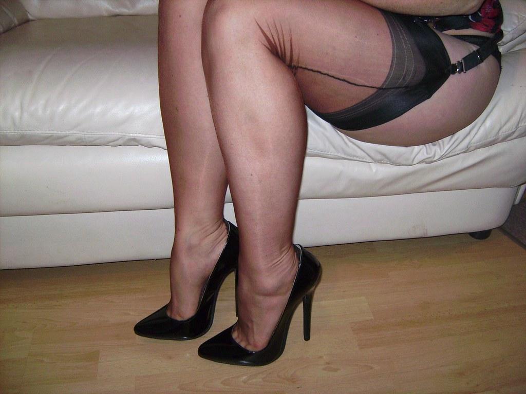 Stockings and stilettos