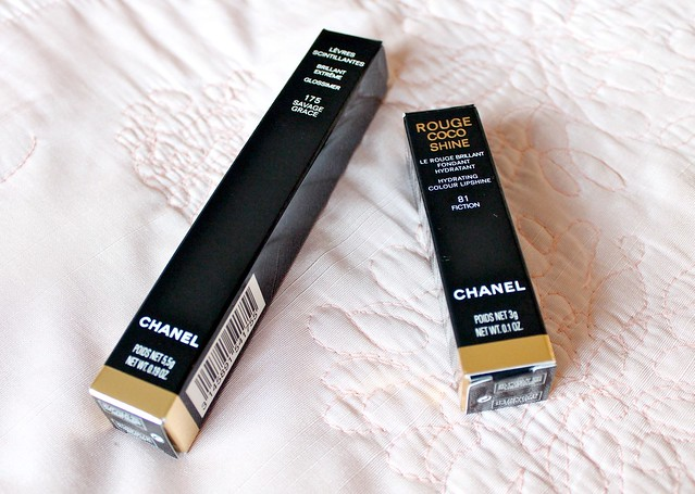 Chanel Savage Garden Glossimer and Rouge Coco Shine Fiction Lipstick Review
