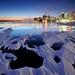 Toronto Skyline, Wind & Ice by Peter Bowers