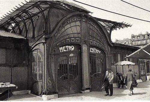 entre´e du me´tro station Bastille 1950