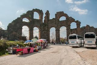 תמונה של Aqueduct ליד Büyükbelkis. turkey antalyaprovince