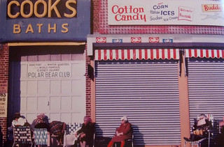 Coney Island 1973 - Ladies Rest Outside Cooks Bath