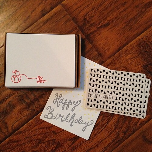 @pheasantpress Thank you! The notecards are amazing!! Can't wait to write a special little note on them!