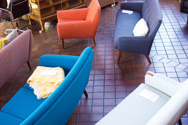 Midcentury Modern Fair Dulwich 2014 sofas