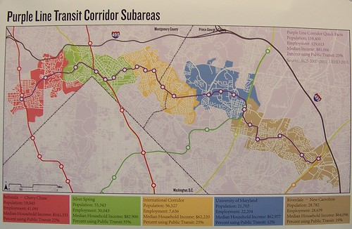 Subareas, Purple Line Transit Corridor, Montgomery and Prince George's Counties, Maryland