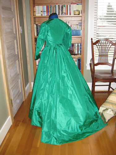 1868 Green Silk - Back - Untrimmed