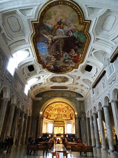 Roma 02/03/2017: Navata centrale della Basilica di San Pietro in vincoli