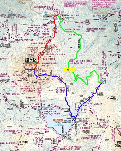 燧ヶ岳地図